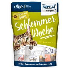 Happy Cat Schlemmerwoche - karma na 7 dni, 7 x 50 g
