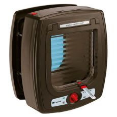 Drzwiczki dla kota Swing Microchip brązowe 22,5 x 16,2 x 25,2 cm