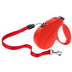 Smycz Amigo Easy Medium do 25 kg - 5 m taśma, czerwona
