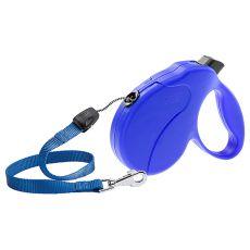Smycz Amigo Easy Medium do 25 kg - 5 m taśma, niebieska
