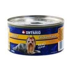 Konserwa ONTARIO Adult dla psów, kawałki kurczaka + żołądki, 200g