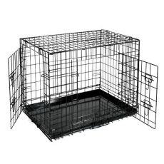 Klatka Dog Cage Black Lux - 2x drzwiczki, S - 61,5 x 42,5 x 50 cm