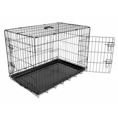 Klatka Dog Cage Black Lux - 2x drzwiczki, M - 78,5 x 52,5 x 59 cm