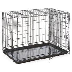Klatka Dog Cage Black Lux - 2x drzwiczki, XXL - 125,8 x 74,5 x 80,5 cm