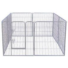 Kojec Dog Park Grey Lux 8-elementowy, M - 80 x 76 cm