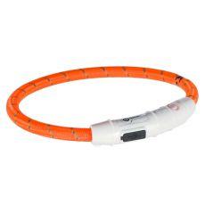 Świecąca obroża LED  M-L, pomarańczowa 45 cm