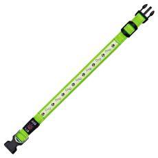 Świecąca obroża USB Flash S/M, zielona 30 - 40 cm