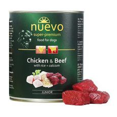 Konserwa NUEVO DOG Junior Chicken & Beef 800 g