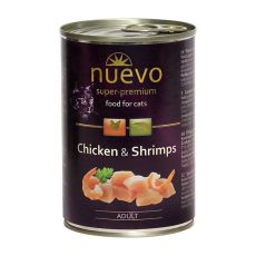 Konserwa NUEVO CAT Adult Chicken & Shrimps 400 g