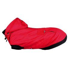 Zimowa kurtka Palermo dla psa z kapturem, czerwona M 45 cm