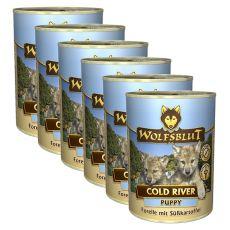 Konserwa WOLFSBLUT Cold River PUPPY, 6 x 395 g