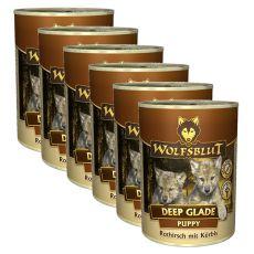 Konserwa WOLFSBLUT Deep Glade PUPPY, 6 x 395 g