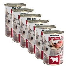 New BEWI DOG konserwa – wołowina 6 x 400 g, 5+1 GRATIS