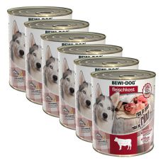 New BEWI DOG konserwa – wołowina 6 x 800g, 5+1 GRATIS