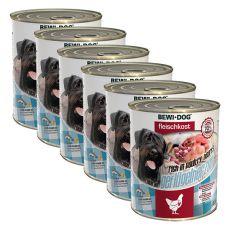 New BEWI DOG konserwa – serca drobiowe 6 x 800 g, 5+1 GRATIS