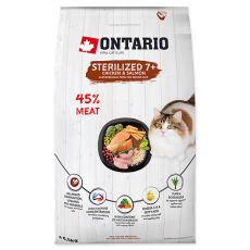 Ontario Cat Sterilised 7+, 6,5 kg