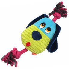 Pluszowy, piszczący, niebieski piesek, 30 cm