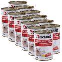 Konserwa ONTARIO dla kotów – kurczak, indyk, olej - 12 x400 g