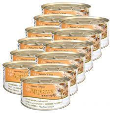 Applaws Cat Jelly – konserwa dla kotów z kurczakiem i makrelą, 12 x 70g