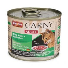 CARNY ADULT karma dla kota - wołowina, królik i kurczak - 200 g