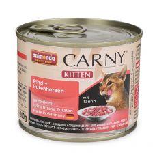 Karma CARNY KITTEN wołowina + indycze serca 200 g