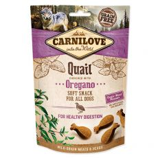 Carnilove Dog Semi Moist Snack Quail enriched with Oregano 200 g