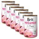 Konserwa Brit Paté & Meat PUPPY 6 x 400 g