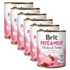 Konserwa Brit Paté & Meat PUPPY 6 x 800 g