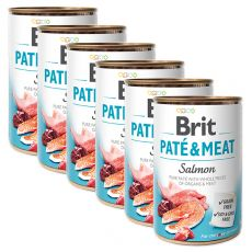 Konserwa Brit Paté & Meat Salmon 6 x 400 g