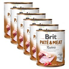 Konserwa Brit Paté & Meat Rabbit 6 x 800 g