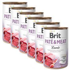 Konserwa Brit Paté & Meat Lamb 6 x 400 g