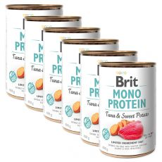Konserwa Brit Mono Protein Tuna & Sweet Potato 6 x 400 g