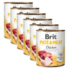 Konserwa Brit Paté & Meat Chicken 6 x 800 g