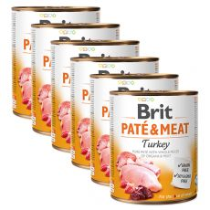 Konserwa Brit Paté & Meat Turkey 6 x 800 g