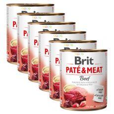 Konserwa Brit Paté & Meat Beef 6 x 800 g