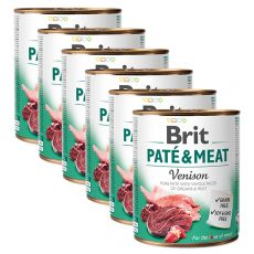 Konserwa Brit Paté & Meat Venison 6 x 800 g