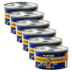 Konserwa ONTARIO Adult dla psów, kawałki kurczaka + żołądki, 6 x 200g