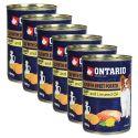 Konserwa ONTARIO z cielęciną, słodkimi ziemniakami i olejem lnianym – 6 x 400g