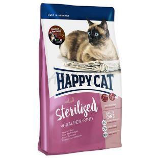 Happy Cat Sterilised Voralpen Rind / Wołowina 1,4 kg