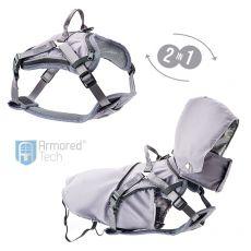 ArmoredTech 2 w 1 uprząż + płaszcz, siwy XL