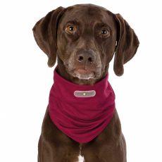 Przeciwpasożytnicza bandamka dla psów M/L, bordowa