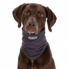 Przecipasożytnicza bandamka dla psów S, siwa
