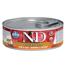 Farmina N&D cat Quinoa Herring & Coconut konserwa 80 g