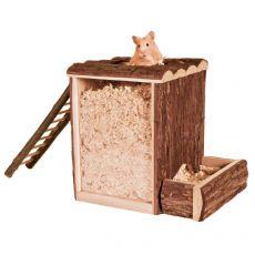 Domek dla gryzoni z przezroczystymi bokami, 25 x 24 x 20 cm