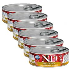 Farmina N&D cat Quinoa Quail & Coconut konserwa 6 x 80 g, 5+1 GRATIS