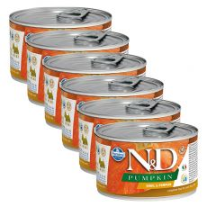 Farmina N&D dog Quail & Pumpkin konserwa 6 x 140 g, 5+1 GRATIS