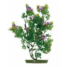 Plastikowa roślina do akwarium - fioletowe kwiaty, 28 cm