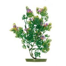 Plastikowa roślina do akwarium - fioletowe kwiaty, 17 cm