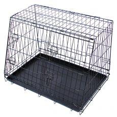Metalowa klatka samochodowa dla psów 79,5 x 56,5 cm, czarna