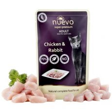 Saszetka NUEVO CAT Adult Chicken & Rabbit 85 g